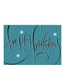 Retro Stars on Blue Birthday Business Hallmark Card