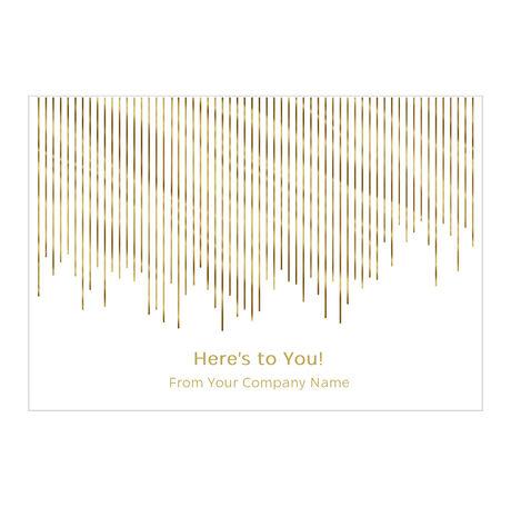 Golden Appreciation Personalized Cover Business Hallmark Card