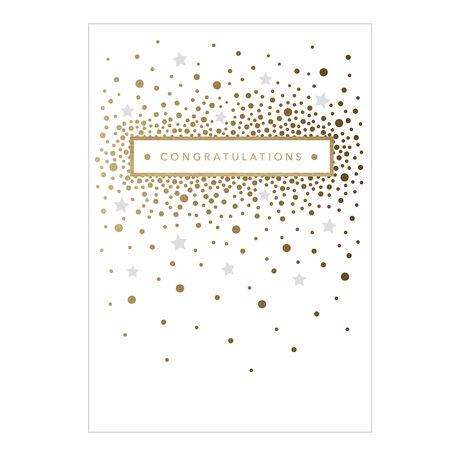 Confetti Congratulations Business Hallmark Card