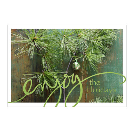 Holiday Card (Pine & Wood Decor) for Business