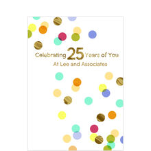 25th Work Anniversary Confetti Design Your Own Hallmark Card
