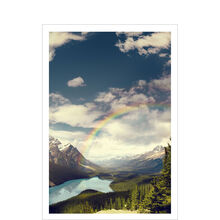 Rainbow and Mountains Encouragement Business Hallmark Card