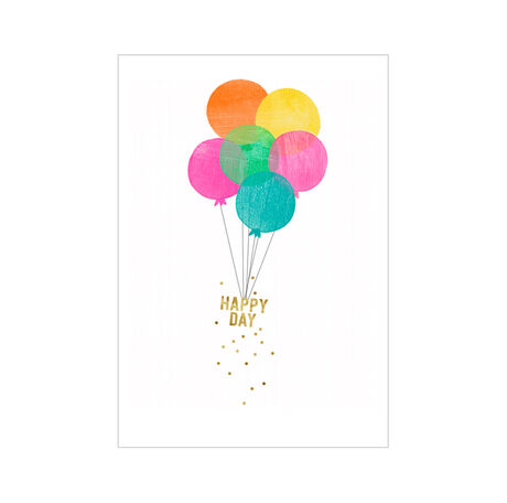 Happy Day Birthday Balloons Business Hallmark Card