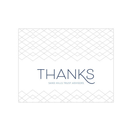 Geometric Thanks Design Your Own Business Hallmark Note Card