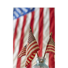 American Flags Patriotic Business Hallmark Card