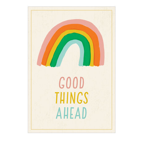 Encouragement Card (Good Things Ahead Rainbow) for Business