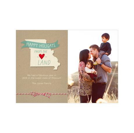 Happy Holidays from Missouri Heartland Hallmark Photo Card
