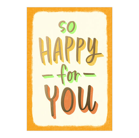 Congratulations Card (So Happy for You) for Business