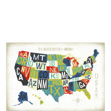 States Map (U.S.) Business Hallmark Card
