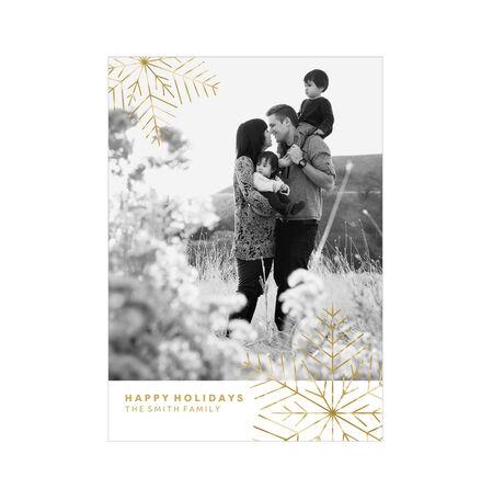 Shimmering Modern Snowflakes Hallmark Holiday Photo Card
