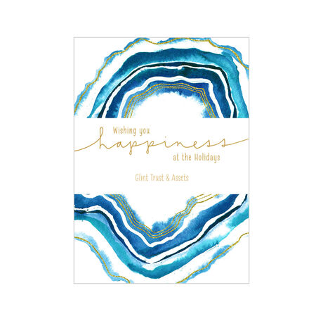 Watercolor Holiday Happiness Design Your Own Business Hallmark Card