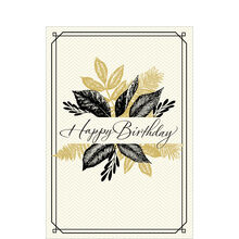 Happy Birthday Leaves Business Hallmark Card