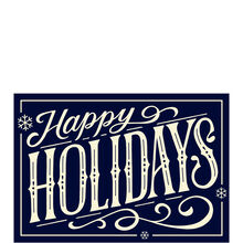 Happy Holidays on Navy Business Hallmark Card