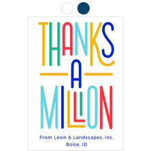 Million Thanks Design Your Own Business Thank You Card