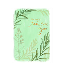 Take Care of You Green Plants Business Hallmark Card