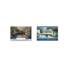 Assorted Thomas Kinkade Holiday Cards for Business, 50 Pack