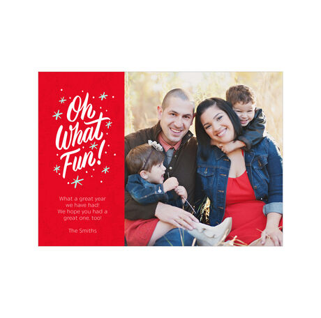 What Fun on Red Hallmark Holiday Photo Card