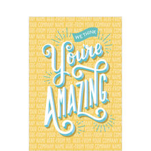 You're Amazing Personalized Cover Customer Appreciation Card