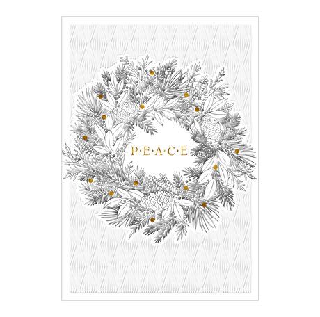 Premium Christmas Card (Peace Wreath) for Business
