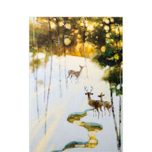 Deer in Snow Holiday Business Hallmark Card