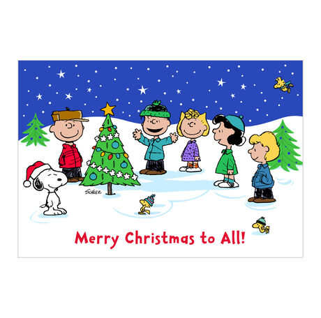 The Peanuts® Gang Christmas Card (Charlie Brown Merry Christmas) for Business