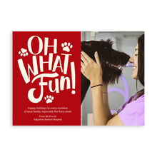 Photo Holiday Card (Paw Prints & Fun) for Business