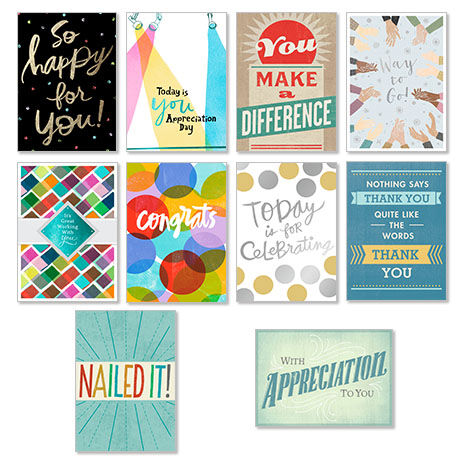 50 assorted employee recognition cards hallmark business connections