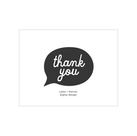 Thank You Chat Bubble Business Hallmark Note Card