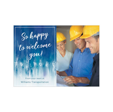 Happy to Welcome You Business Hallmark Photo Card