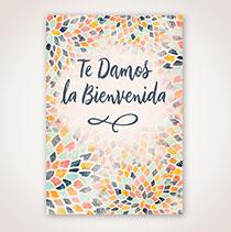 Spanish Welcome Card - Bienvenida en Mosaico