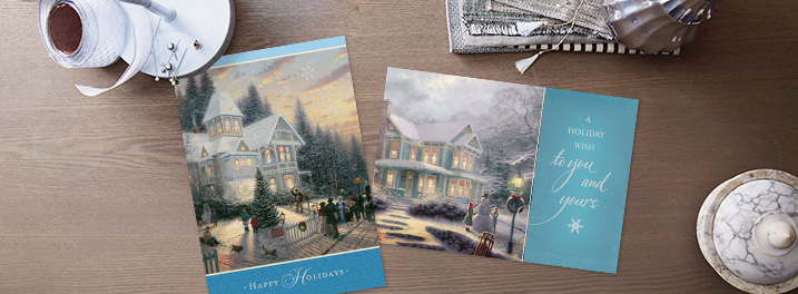 If you like classic holiday cards, then shop Hallmark's traditional Thomas Kinkade assorted holiday holidays cards.
