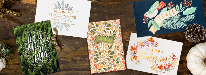 Modern designs and beautiful lettering abound on the holiday cards that Hallmark staff picked as favorites for this year.