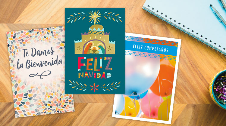 Spanish birthday cards, Spanish Christmas cards and Spanish thank you cards from Hallmark Business Connections.