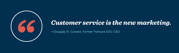 """""""Customer service is the new marketing,"""" said Derek Sivers, founder, CD Baby."""