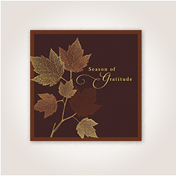 Filigree leaves Thanksgiving card from Hallmark.