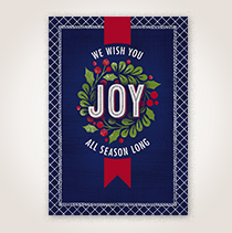 Business holiday card for customers and employees.
