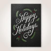 Scandinavian happy holidays business Hallmark card.