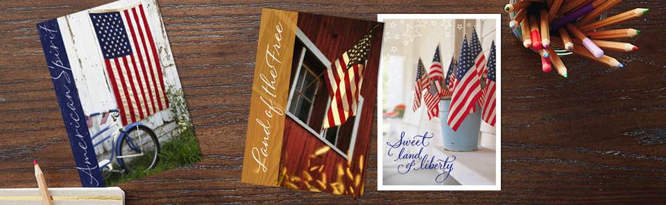 Patriotic cards from Hallmark Business Connections.