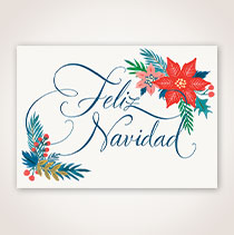Spanish Christmas Card - Navidad en Caligrafia