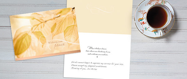 Take a thoughtful, warm sympathy card from Hallmark and add your personal message to offer comfort during a difficult time.