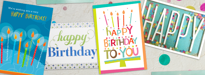 Business birthday cards corporate birthday cards hallmark always have the right card on hand with assorted birthday cards from hallmark business connections selections range from 25 to 125 assorted cards packs m4hsunfo