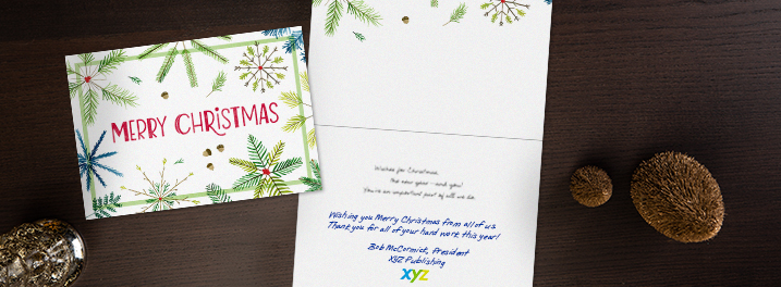 Christmas cards for employees