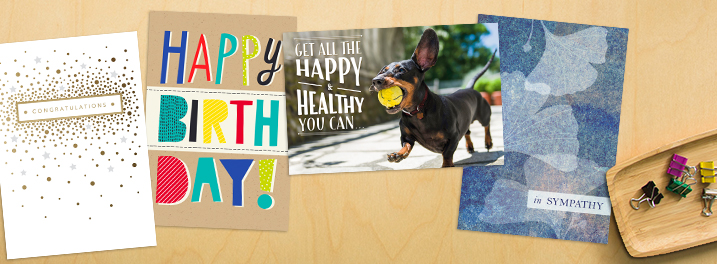 From congrats and sympathy to happy birthday and healthy living, shop new Hallmark cards designed with professionals in mind.