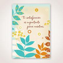 Spanish Apology Card - Hojas Azul y Cafe