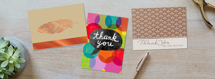 Accented in foil, fun colors or sophistication, find Hallmark blank thank you notes that match your business style