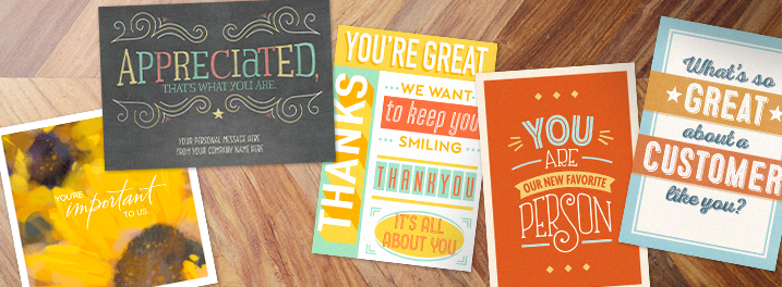 From watercolor flowers to modern typography, you'll find a thank you note for customers that fits your style in Hallmark's collection.