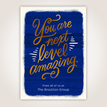 """This customizable Hallmark card says """"You're Next Level Amazing"""" along with a company name to make it memorable. SHOP NOW"""