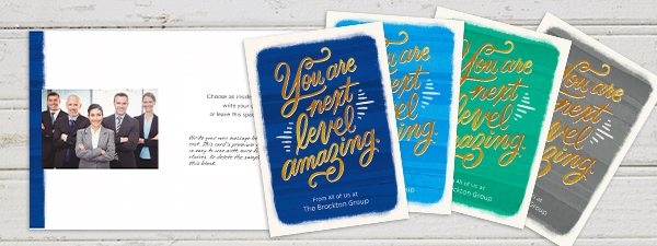 """Tell your customers they are """"next level amazing"""" as this card does—plus, add a note and photo to personalize it more."""
