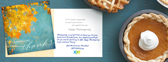 Thanksgiving cards for employees
