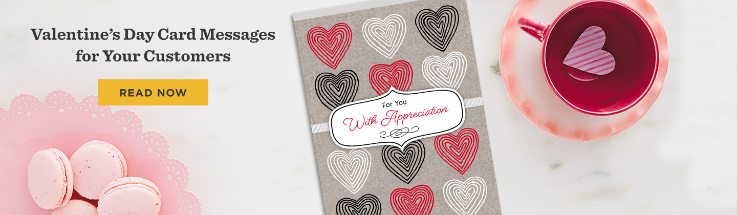 Valentine's Day Card Messages for Your Customers article. Read Now
